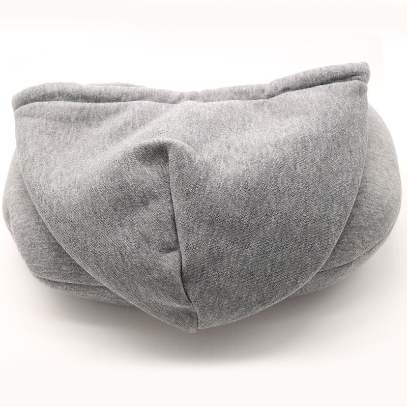 Hooded U-Shape Travel Head Neck Pillow for Airplane 4 Colors Outdoor Portable Pillow Sleep Cushion Comfortable Support image