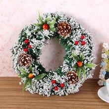 Garland Wreath Christmas-Decorations Drop-Ornament Festive Rattan XMAS Party Home 1pc