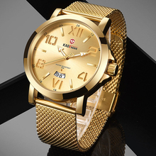 KADEMAN Sports Mens Watches Waterproof Military Quartz Men Top Brand Luxury Gold Male Wristwatches Relogio Masculino