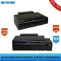 Wtsfwf 220V 110V Original EPSON L805 6Color Inkjet Printer A4 Photo Printer Sublimation Printer