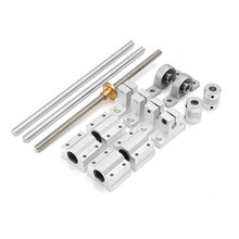 Sliding Rail Set 15pcs/set 400mm Optical Axis Guide Bearing Housings Linear Rail Shaft Support Screws Set(China)
