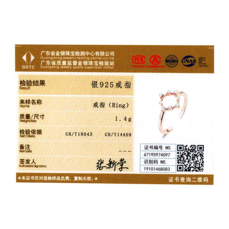 Bamoer Ослепительный CZ круглый открытый регулируемый палец кольца для женщин свободный размер 925 пробы серебро 2020 Новая мода ювелирные изделия BSR093