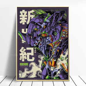 Impressão em tela evangelion mecha unidade-01 poster arte da parede modular japão anime pintura imagem para o quarto quadro decoração de casa