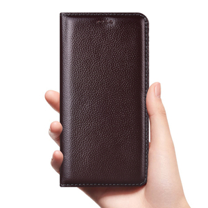 Image 2 - Litchi Pattern Genuine Leather Case For Sharp Aquos S2 S3 R3 R2 Sense 3 Zero 2 Lite Plus Mini Compact Flip Cover