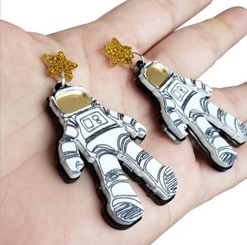 Earrings For Women Kelly Earrings Fashion Charm Exaggerated Hip Hop Girls Gift Cute Alien UFO Saucerman 3