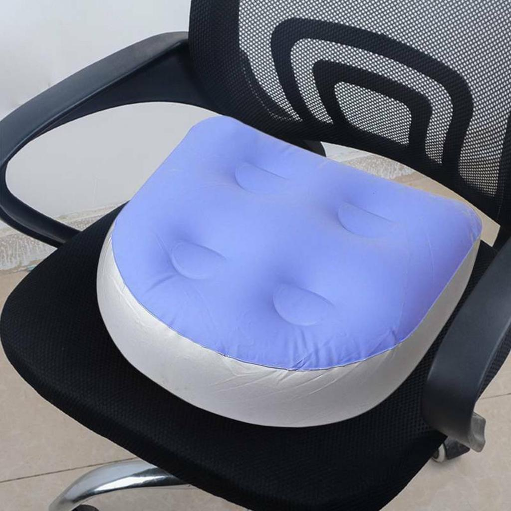 Multifunctional Spa Booster Seat With Suction Cup Grip Hot Tub Massage Cushion Inflatable Fill Water Pad  For Adults or Kids