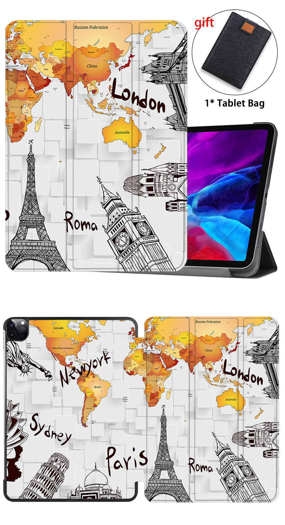 With Leather Pencil Pro iPad PU 12.9 Holder MTT Tablet 3rd Gen Case 2018 For Magnetic