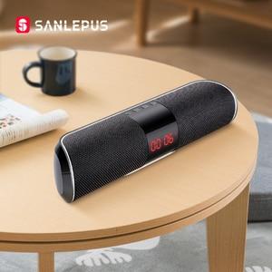 Image 1 - Sanlepus Bluetooth Outdoor Speaker Metal Draagbare Super Bass Draadloze Luidspreker 3D Stereo Muziek Surround Met Tfcard Aux