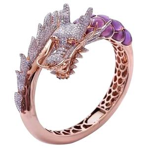 Skull Rings Wedding-Band Dragon Rose-Gold Female Unique-Style Vintage Women Animal Engagement
