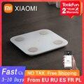 222 RUB Код скидки: A3GTI2F9LCPN Умные Электронные весы XIAOMI Mi 2, умный прибор для измерения массы тела и жира в ванной комнате, анализатор состава тела,...