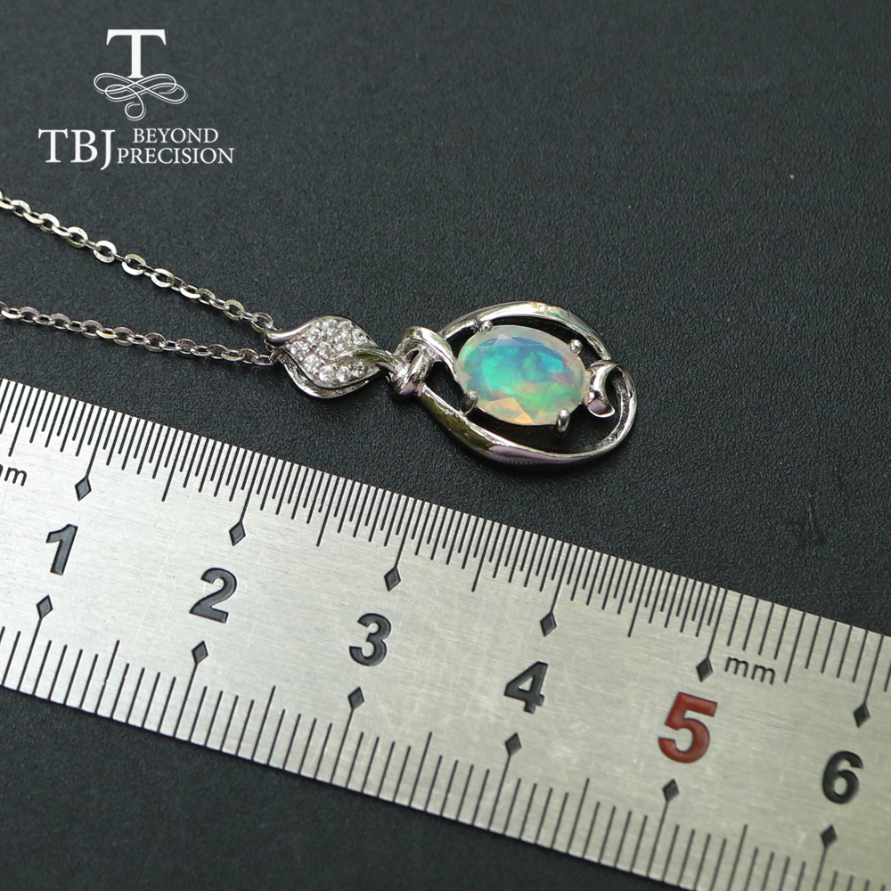 Image 4 - Opal small pendant natural Ethiopia gemstone in 925 sterling  silver simple design fine jewelry nice Christmas gift for  girl,momPendants