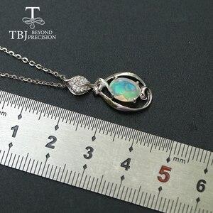 Image 4 - Petit pendentif en pierre précieuse dethiopie naturelle en argent sterling 925, design simple, bijou fin, joli cadeau de noël, pour fille et maman