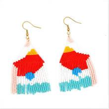 Go2boho Earrings For Women 2019 MIYUKI Fringed Earring Colorful Boho Aretes De Mujer Handmade Loom Beads Summer Fashion Jewelry