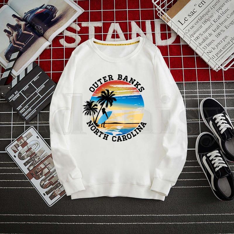Outer Banks Pogue Life Men Hoodies Sweatshirt Print Trend Mens Clothes Male Crewneck Hoodies