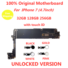 Оригинальная материнская плата для iphone 7 plus с touch id/без