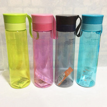 Transparent plastic cup outdoor sports cup with strainer strap  water bottles termos mug shaker  plastic water bottle outdoor protective transparent plastic mask with elastic strap