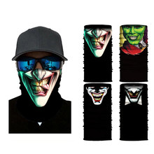 3D Punisher Mask Men Bandana Venom Neck Gaiter Cyclist Face Hiking Masks Bandanas Headband Ski Balaclava Scarf
