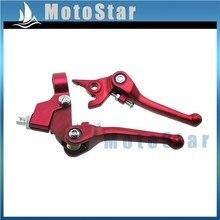 Красные складные рычаги тормозной муфты из сплава для китайского питбайка мотокросса SSR Taotao Roketa Coolster 50cc-160cc