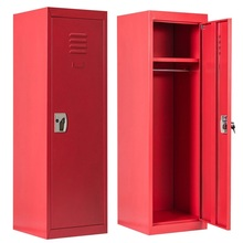 48″ Kid Safe Storage Cabinet Room Organizer Children Closet Shelf Single Tier Metal Locker HW56202