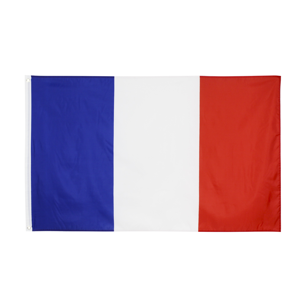Французский флаг johnin 90x150 см, синий, белый, красный