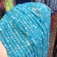 Бусины из натурального камня амазонита граненые бусины квадратной