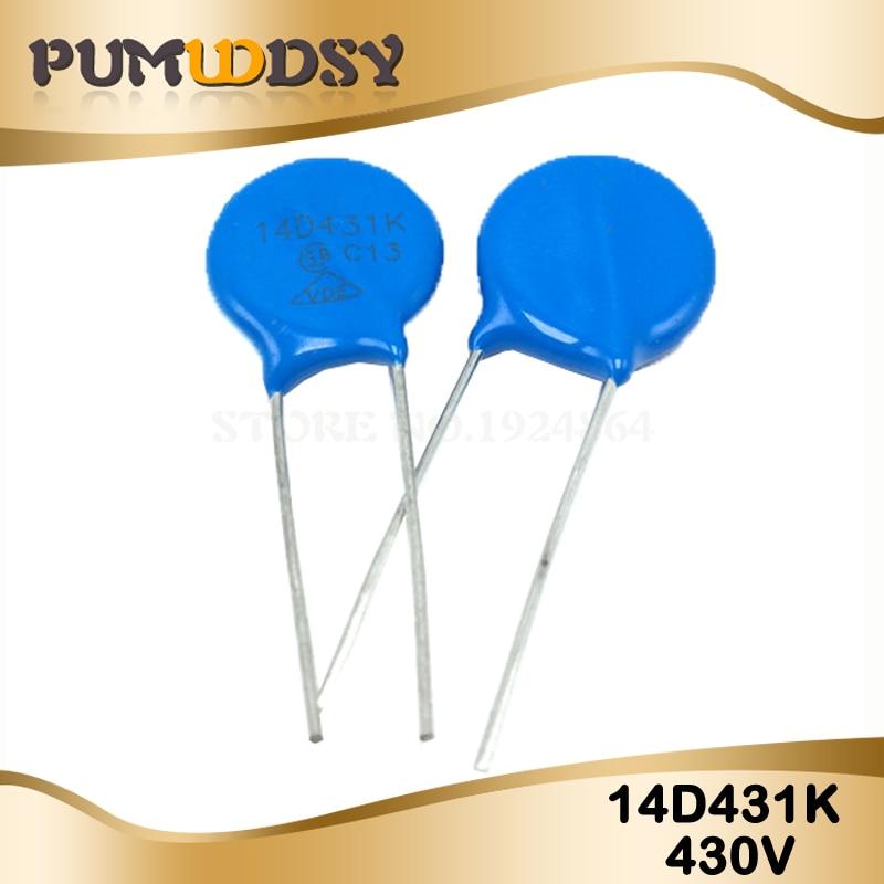 10pcs Varistor 14D431K 430V Piezoresistor 14D431