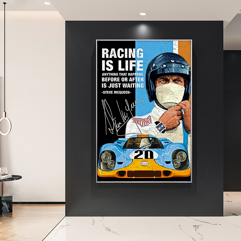 24 Hours Of Le Mans Michael Delaney On Canvas Print Nordic Poster Wall Art Picture For Living Room Home Decoration Frameless