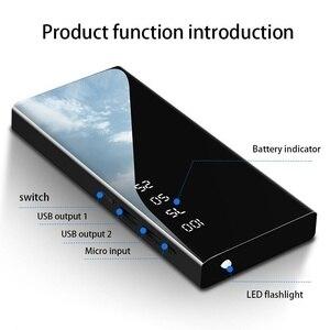 Image 2 - Banco de energía de 30000mAh, espejo, batería externa, pantalla Digital LCD, iluminación LED, cargador de teléfono móvil portátil, Banco de energía ultrafino