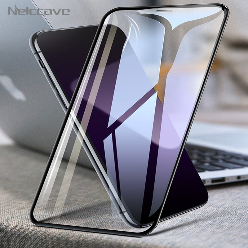 50 Pieces/Lot Full Coverage Tempered Glass For Apple iPhone 11 Pro XS Max XR X 8 Plus 7 6 6S 5S SE 2020 Screen Protector Film image