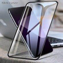 50Pcs 아이폰 12 미니 11 프로 XS 최대 XR X 8 플러스 7 6 6S 5 SE 2020 화면 보호기에 대 한 전체 범위 강화 유리 전체 접착제 필름