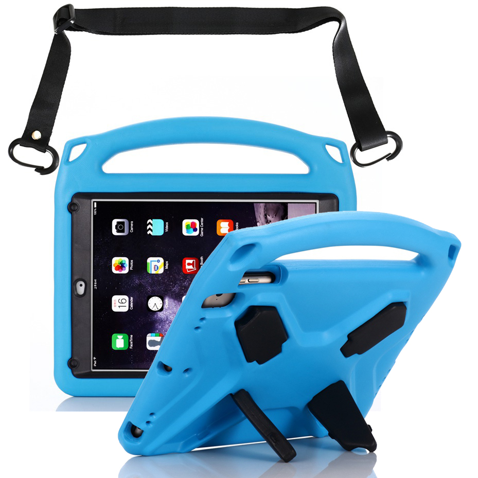 EVA Case for Ipad 2018 2017 Air 1/2 Pro 9.7 Case with Touch Screen Shoulder Strap Shockproof Kids Cover for IPad 6th Generation