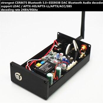strongest CSR8675 Bluetooth 5.0 ESS9038 DAC Audio decoder support LDAC APTX-HD ACC 24Bit/96k audio receiver