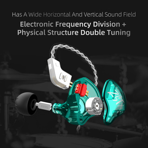 Image 5 - 2020 KZ ZST X 1BA+1DD Hybrid Unit Headphones HIFI Bass Sports DJ Earbud Headset With Silver plated Cable Earphones KZ ZSTX ZSN