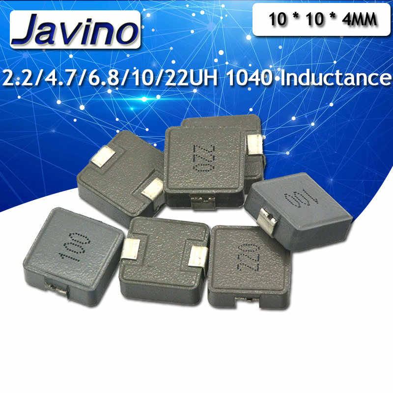 5 pcs/lot NOUVEAU SMD Inductances De Puissance 2.2uh 2R2 4.7uh 4R7 6.8uh 6R8 10uh 100 220uh 220 Inductance de puce 1040