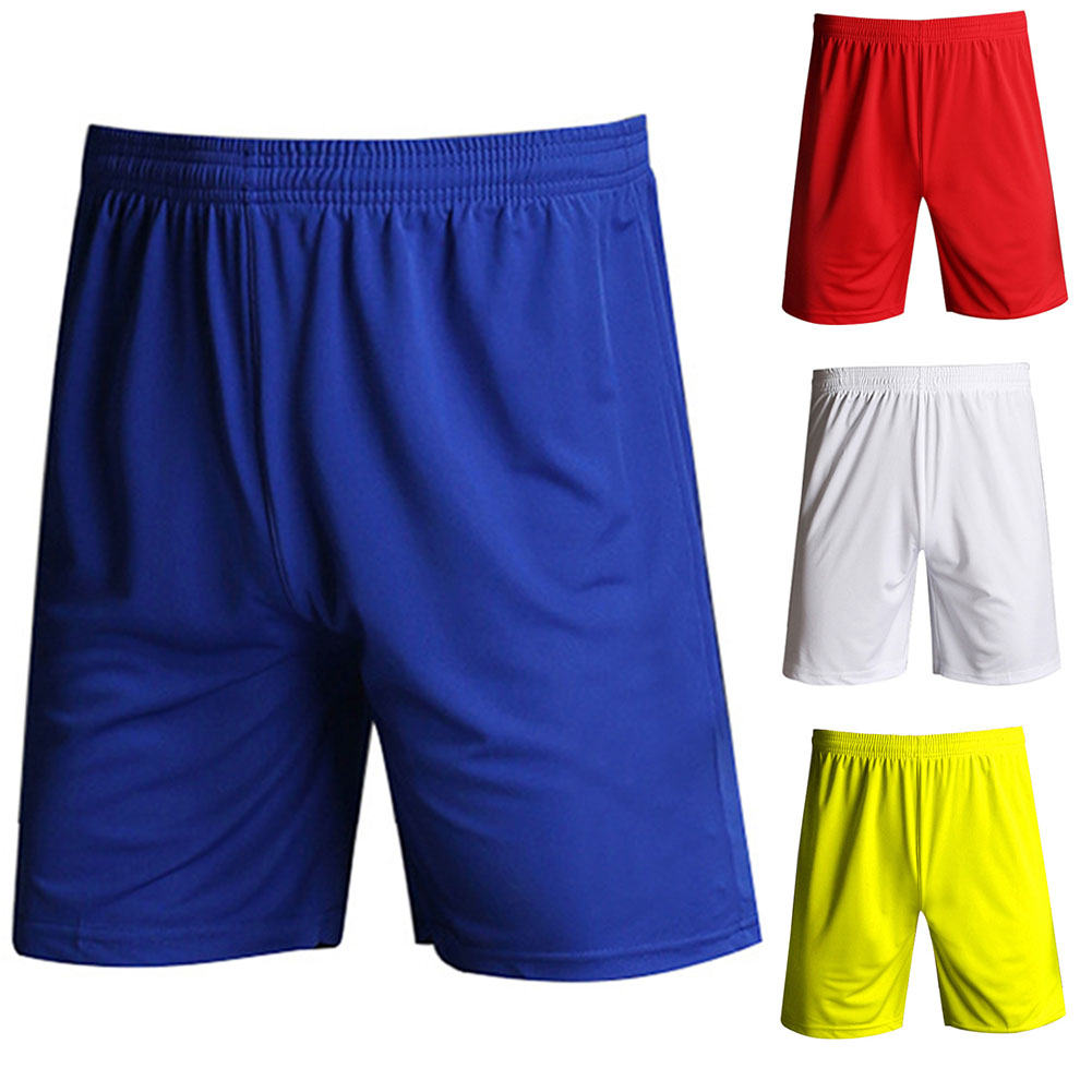 Training Elastic Waist Solid Fitness Jogging Athletic Breathable Gym Football Casual Quick Dry Sports Men Shorts