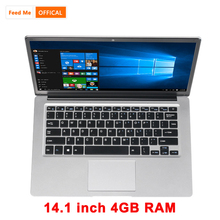 Student Laptop 14.1 Inch 4GB RAM 128GB SSD Netbook Intel E8000 Quad Core Notebook with BT Webcam for Internet Class Computer