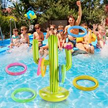 Outdoor Swimming Pool New PVC Inflatable Cactus Ring Travel Beach Set Toss Toys Party Ice Floating Supplies Party Pool Game S2R2
