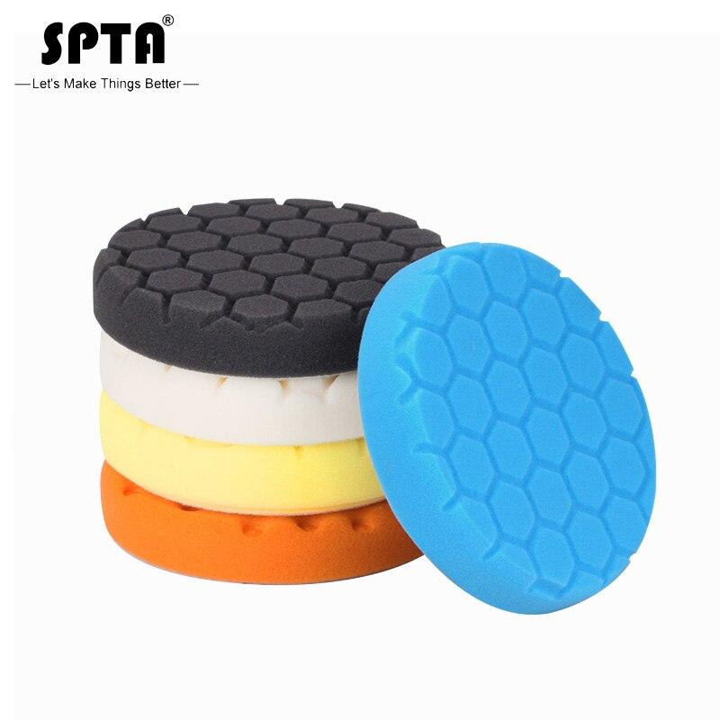 (Bulk Sales 2) SPTA 5.5Inch (135mm) Hex-Logic Cut Polishing Pads&Buffing Pads For 5Inch(125mm) RO/DA/GA Dual Action Car Polisher