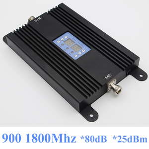 Image 1 - Lintratek NEW 4G Repeater GSM Booster 80dB Mobile Phone Signal Booster 900 1800Mhz Ampli 4G 2G Dual Band Repeater AGC MGC 25dBm