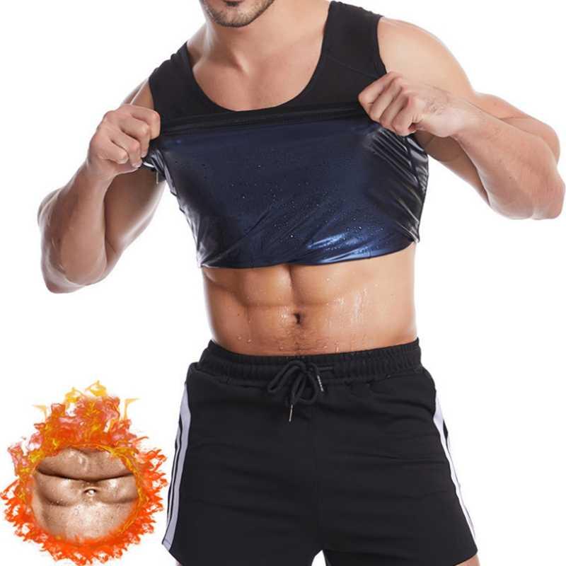 de neopreno Sfigur Camiseta de tirantes para hombre moldeadora para sauna con control de abdomen y efecto de sudoraci/ón deportiva