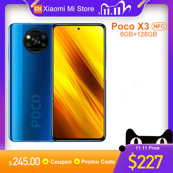 Global Version Xiaomi Poco X3 NFC Smartphone 6GB RAM 128GB ROM Snapdragon 732G Octa Core 64MP 5160mAh Battery 33W Fast Charge