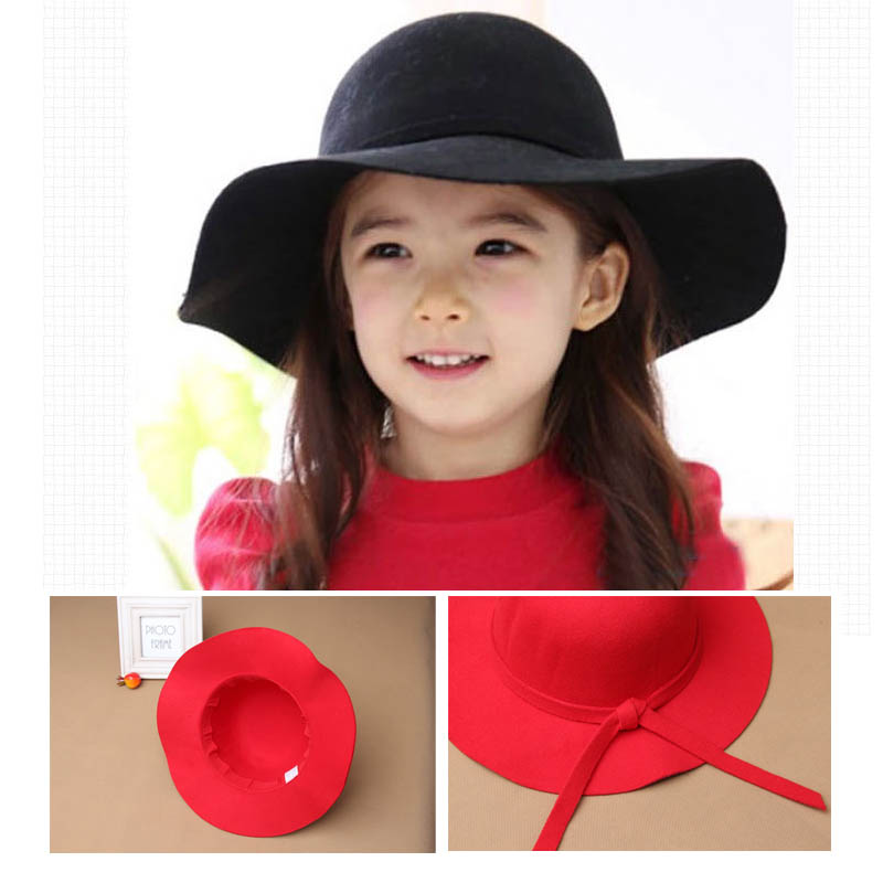Chapeau Hot Sale Casual Fedora Cap Wide Brimmed Dome Hats High Quality Wool Floppy Womens Black Cloche Hat