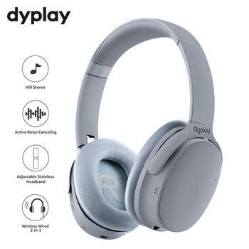 Наушники с активным шумоподавлением, беспроводные Bluetooth наушники с чехлом, накладная гарнитура с микрофоном для сотовых телефонов