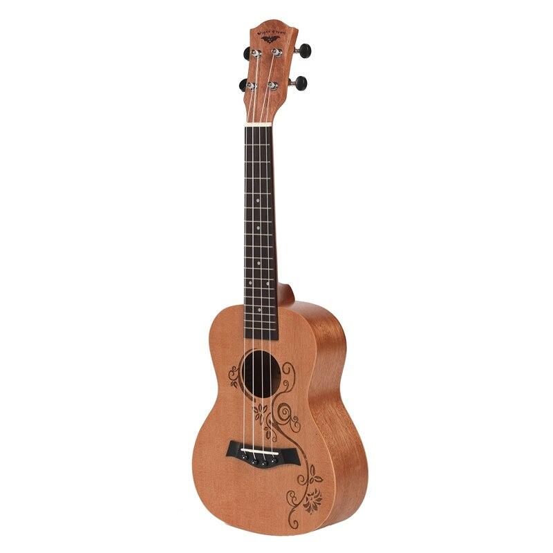 Concert Ukulele 23 Inch Uku 4 Strings Guitar Mahogany Neck For Kids Adults