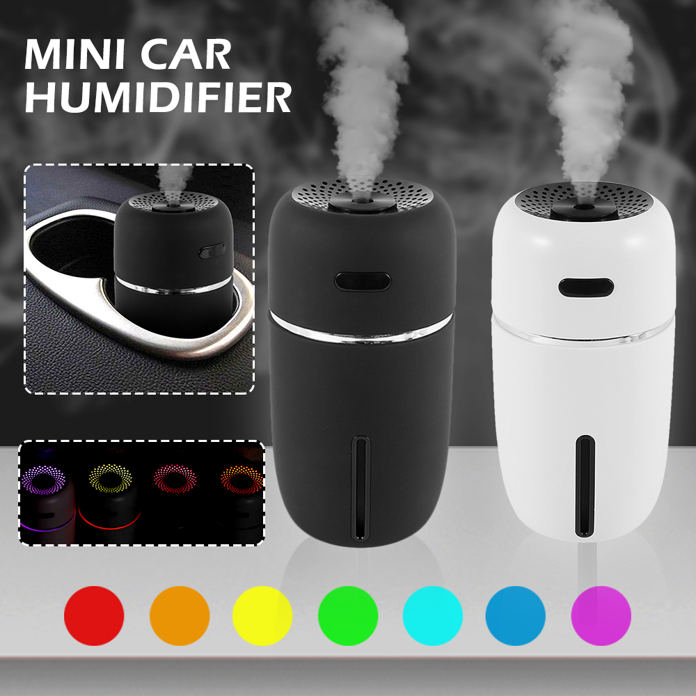 Portable USB Car Air Humidifier Essential Oil Diffuser LED Mini USB Air Humidifier Purifier Car ultrasonic Aromatherapy Diffuser