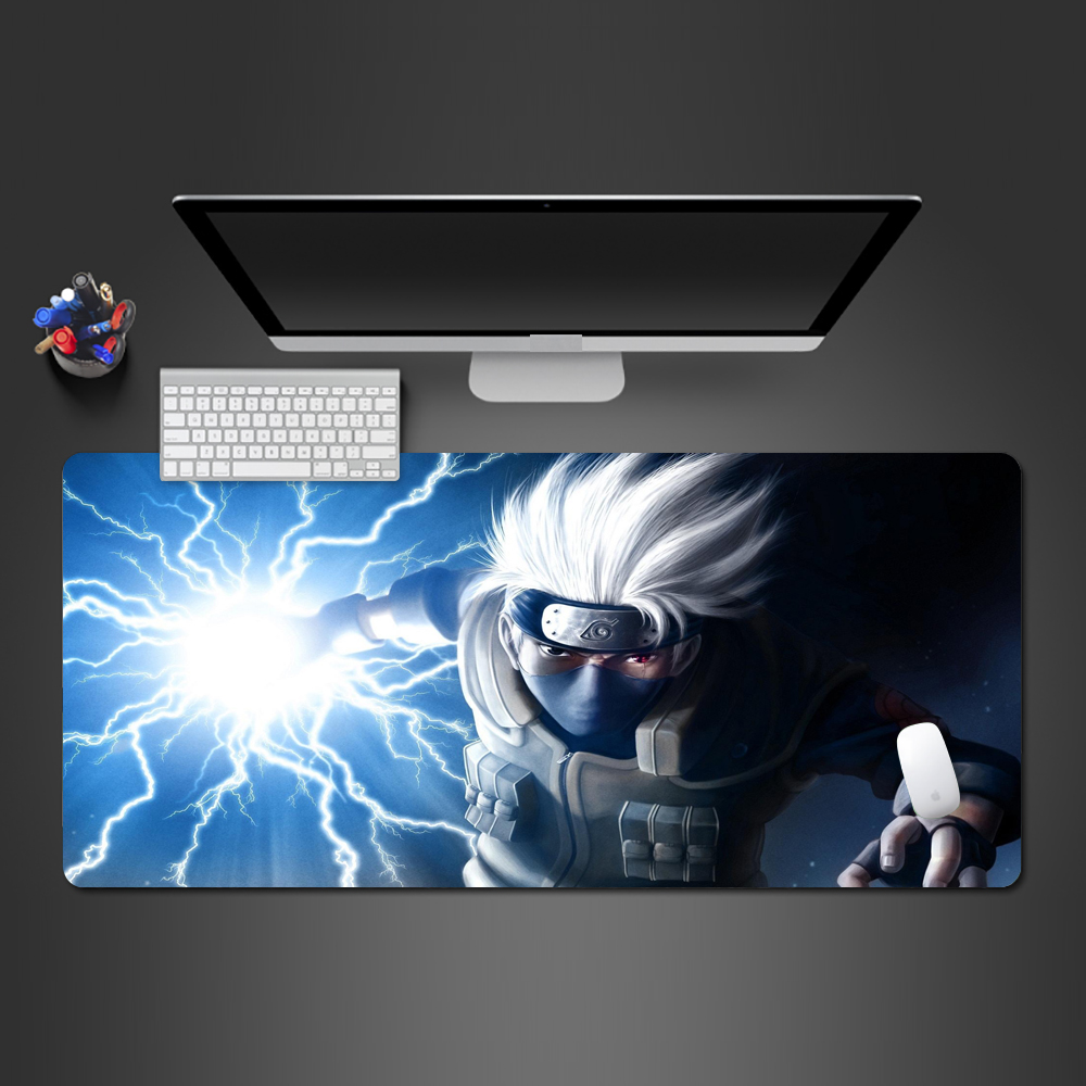 Super Hot Naruto Kakashi Anime <font><b>Mouse</b></font> <font><b>Pad</b></font> High Quality PC Gaming Computer <font><b>XL</b></font> Mousepad Big Desk Mat Gaming <font><b>Mouse</b></font> <font><b>Pad</b></font> Anime Mat image