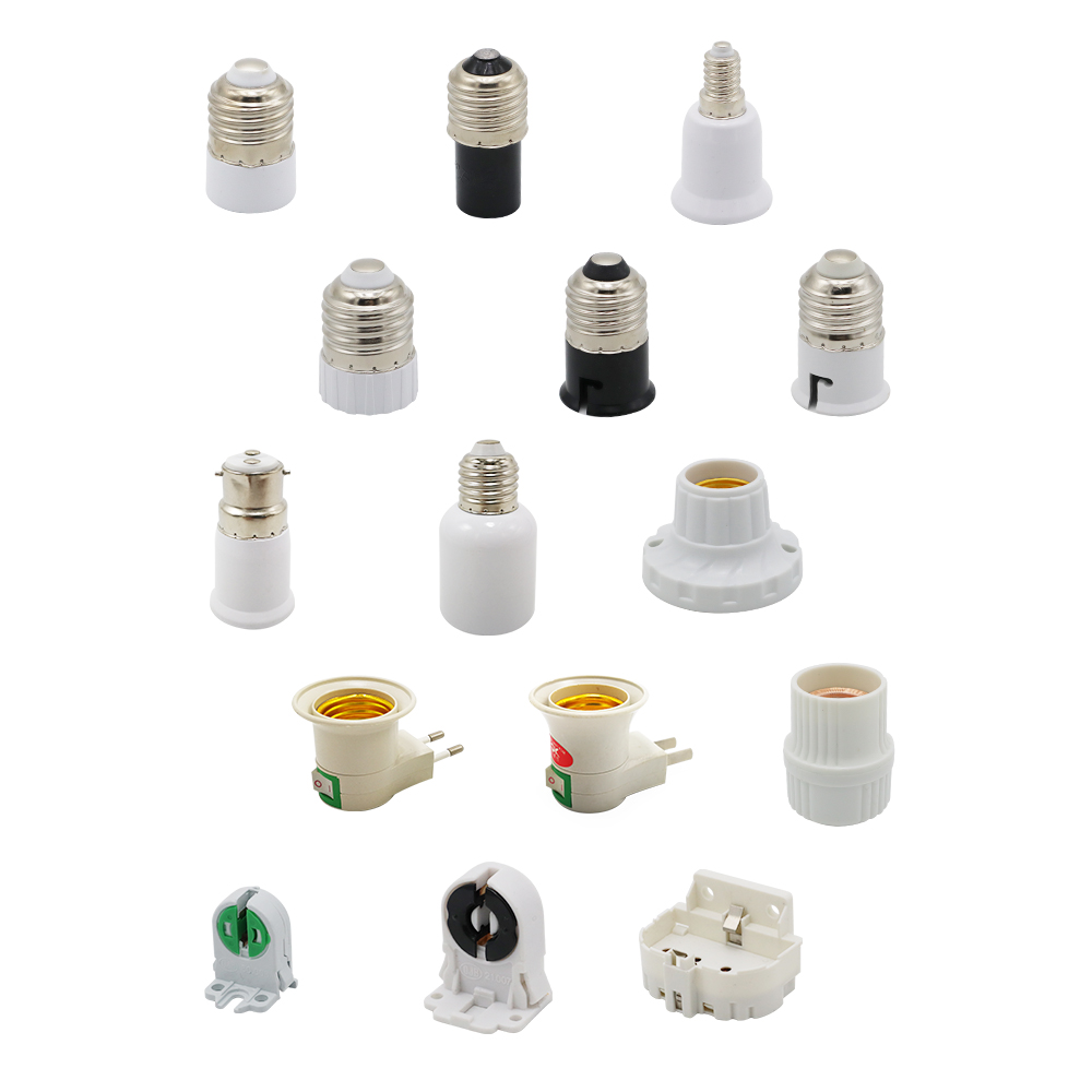 2 Pieces/lot E27 E40 E14 B22 Lamp Holder Converter T5 T8 2G11 Light Holders GU5.3 MR11 MR16 Lamp Base US EU Plug Socket Adapter
