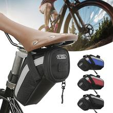 Bolsa para sillín de bicicleta portátil, resistente al agua, al aire libre para ciclismo, equipo de bolsa trasera