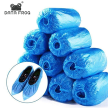 Shoe-Covers Waterproof Thick 100pcs Smooth Anti-Pollution Non-Slip Plastic Rainy-Day