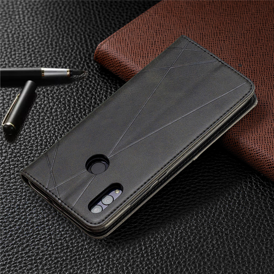 H00eea4df912c4e6a82beebe0ce2980bf2 For Huawei Honor 10 Lite Case Leather Wallet Flip Cover Soft Silicone Case for Honor 10i 9X 8A 8S Magnetic Case Card Holder